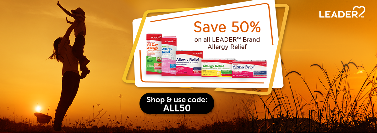 LEADER™ Brand Allergy Relief 50% Off